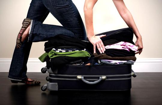 Gepäck-Füllung